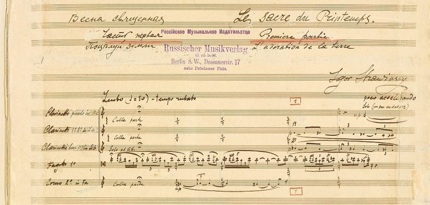Stravinsky score