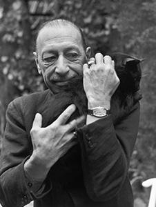 Stravinsky with cat sm crop